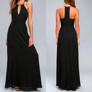 Beauty and Grace Black Maxi Dress Lulus